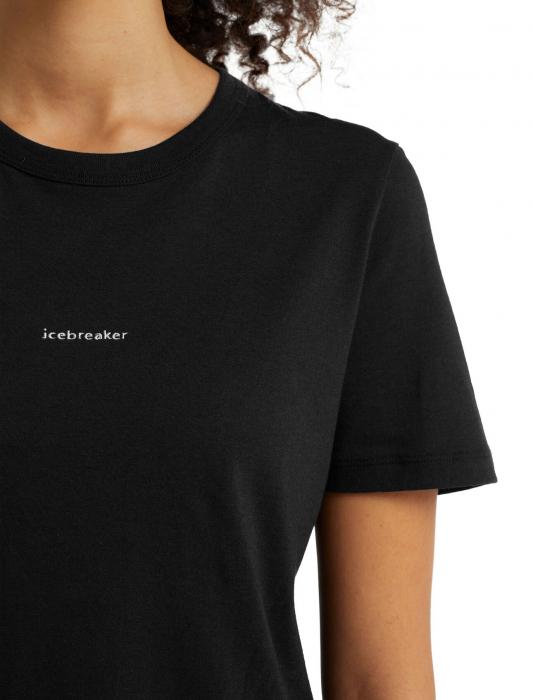 Tricou merino femei ICEBREAKER Central negru [4]