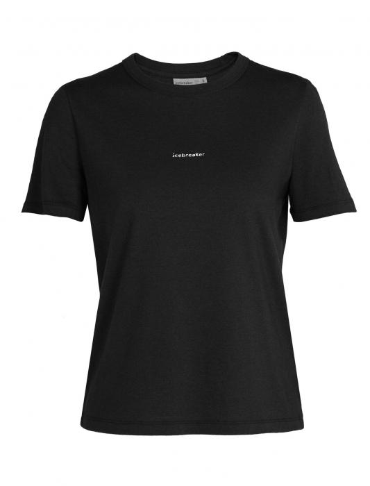 Tricou merino femei ICEBREAKER Central negru [0]