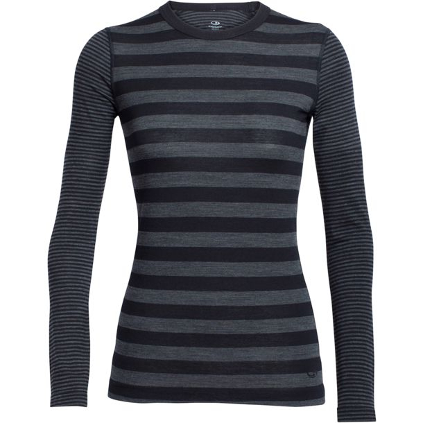 Bluza de corp femei ICEBREAKER Sprite LS Crewe negru [0]