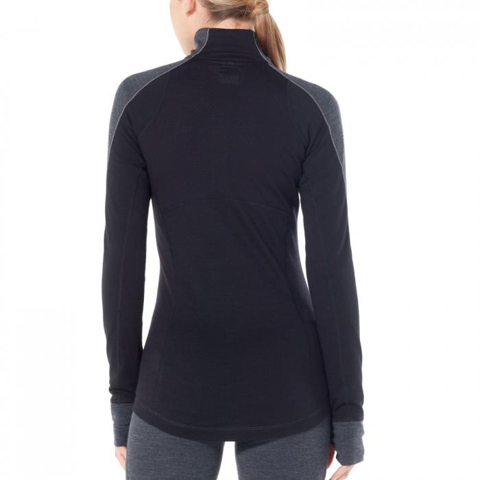 Bluza de corp femei ICEBREAKER fermoar 1/3 260 Zone gri [2]