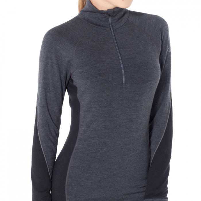 Bluza de corp femei ICEBREAKER fermoar 1/3 260 Zone gri [3]