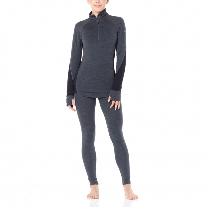 Bluza de corp femei ICEBREAKER fermoar 1/3 260 Zone gri [4]
