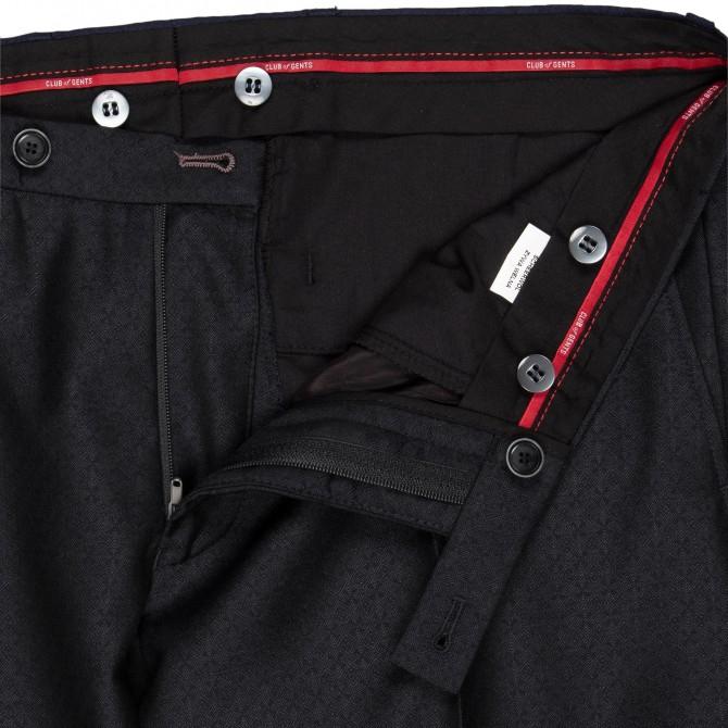 Pantaloni mix&match CLUB of GENTS Pascal pentru costum Diamond design Slim Fit negru [2]