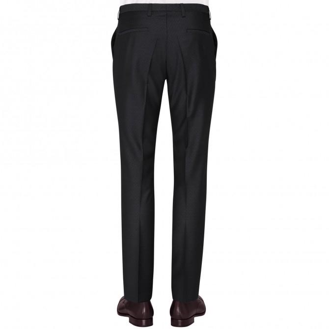 Pantaloni mix&match CLUB of GENTS Pascal pentru costum Diamond design Slim Fit negru [1]