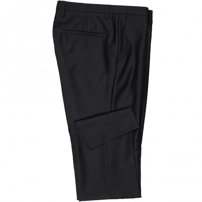 Pantaloni mix&match CLUB of GENTS Pascal pentru costum Diamond design Slim Fit negru [3]