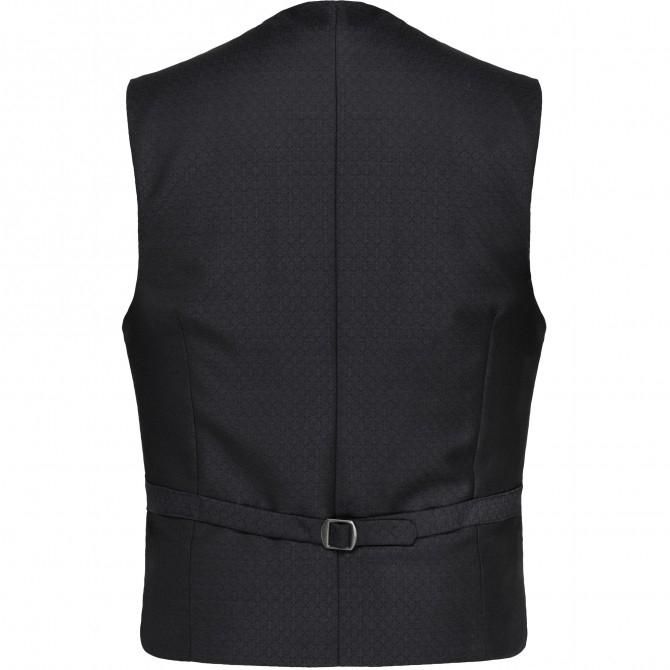 Vesta mix&match CLUB of GENTS Philipp pentru costum Diamond design Slim Fit negru [1]