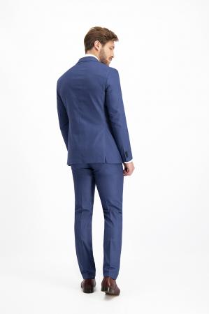 Costum elegant carouri LAVARD albastru [7]