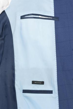 Costum elegant carouri LAVARD albastru [5]