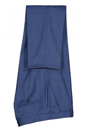 Costum elegant carouri LAVARD albastru [3]