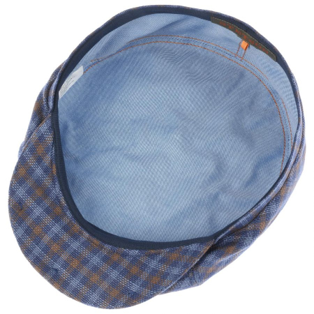 Sapca in barbati STETSON Ricoma 6-Panel carouri albastre [2]