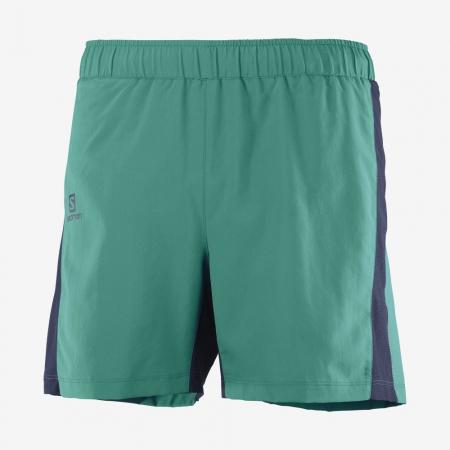 Short alergare barbati SALOMON AGILE 5'' verde [0]