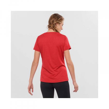 Tricou sport femei SALOMON AGILE rosu [3]