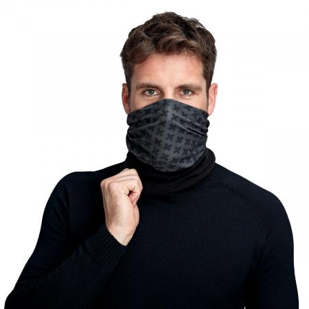 Bandana protectie gat Mammut Thermo Neck neagra unisex [0]