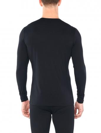 Bluza de corp barbati ICEBREAKER 200 Oasis LS Crewe Single Line Ski neagra [2]