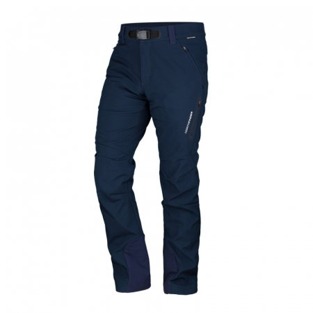 Pantaloni softshell 3L barbati NORTHFINDER JAVON bleumarin [0]
