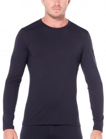 Bluza de corp barbati ICEBREAKER 200 Oasis LS Crewe neagra [1]