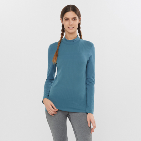 Bluza de corp femei SALOMON ESSENTIAL WARM bleu [1]