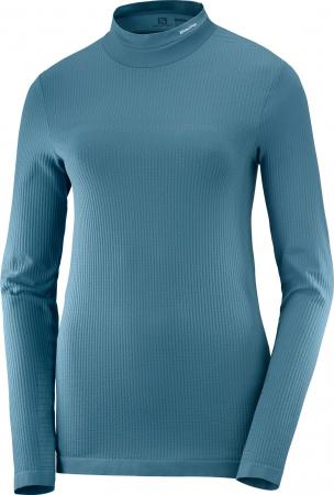 Bluza de corp femei SALOMON ESSENTIAL WARM bleu [0]