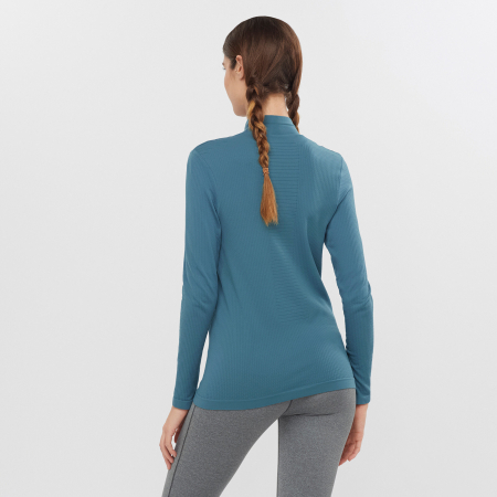 Bluza de corp femei SALOMON ESSENTIAL WARM bleu [2]