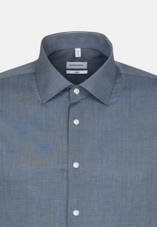 Cămașă business bărbați fil-a-fil Seidensticker Slim Not Iron albastra [2]