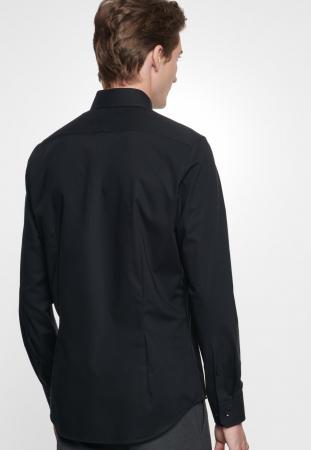 Cămașă business bărbați poplin Seidensticker Slim Not Iron neagra [2]
