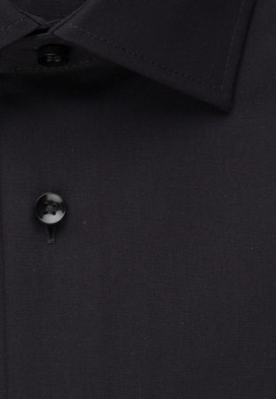 Cămașă business bărbați poplin Seidensticker Slim Not Iron neagra [7]