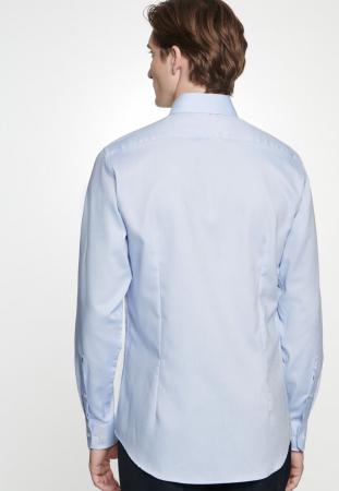 Cămașă business bărbați Seidensticker Shaped Not Iron albastra structurata [3]