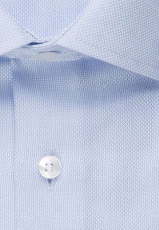 Cămașă business bărbați Seidensticker Shaped Not Iron albastra structurata [2]