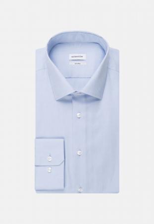 Cămașă business bărbați Seidensticker Shaped Not Iron albastra structurata [6]