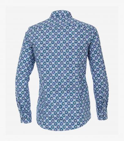 Camasa bumbac barbati VENTI Modern Fit print floral albastru [1]