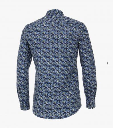 Camasa bumbac barbati VENTI ModernFit albastra print floral [1]
