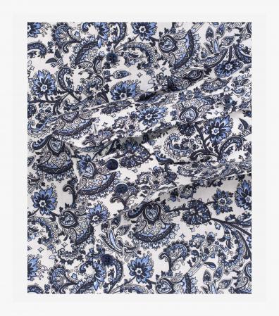 Camasa bumbac barbati VENTI Modern Fit print bleumarin [3]