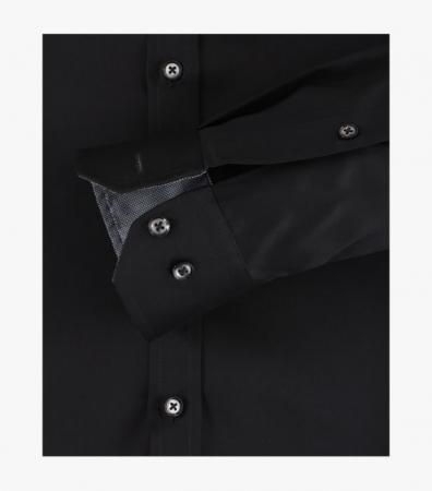 Camasa bumbac barbati VENTI BodyFit uni neagra [3]