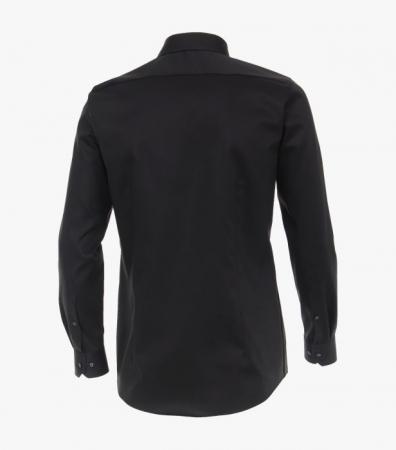 Camasa bumbac barbati VENTI BodyFit uni neagra [2]
