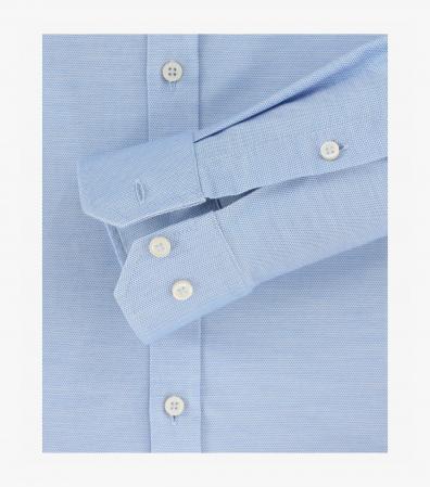 Camasa barbati VENTI BodyFit uni albastra [3]