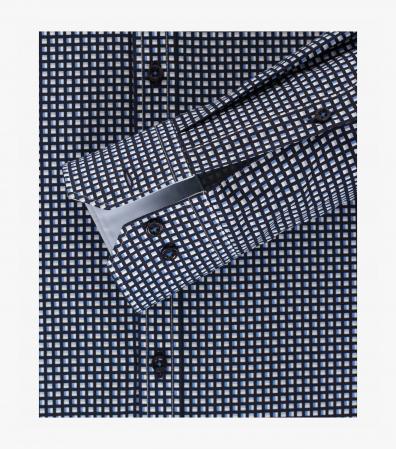 Camasa bumbac barbati VENTI Modern Fit alb/bleu cu patratele negre [3]