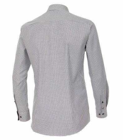 Camasa bumbac barbati VENTI Modern Fit neagra cu print alb [1]
