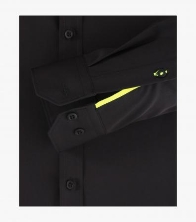Camasa barbati VENTI Sneakers ModernFit neagra [3]