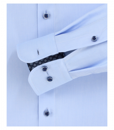 Camasa maneca lunga barbati CASA MODA print Comfort Fit albastra [3]