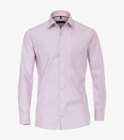 Camasa bumbac barbati CASA MODA Modern Fit roz print dungulite [0]