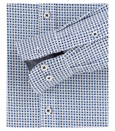 Camasa maneca lunga barbati CASA MODA print Casual Fit albastra [3]