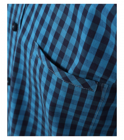 Camasa maneca lunga barbati CASA MODA carouri Casual Fit albastra [5]