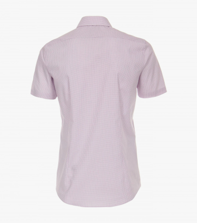 Camasa bumbac barbati maneca scurta VENTI Body Fit dungulite roz [1]