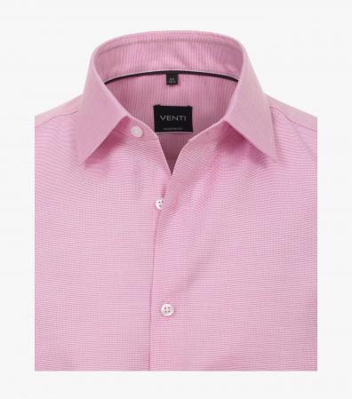 Camasa bumbac barbati maneca scurta VENTI Modern Fit roz [2]