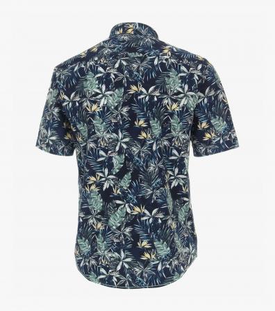 Camasa bumbac maneca scurta CASA MODA CasualFit bleumarin print floral [1]