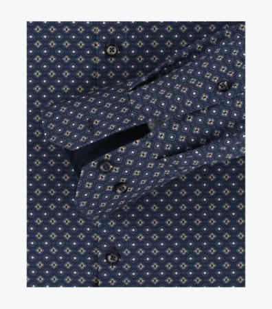 Camasa maneca lunga barbati VENTI print Modern Fit albastra [3]