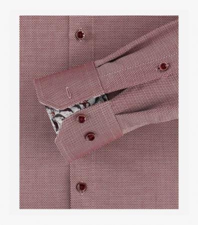 Camasa maneca lunga barbati VENTI uni Modern Fit rosie [3]