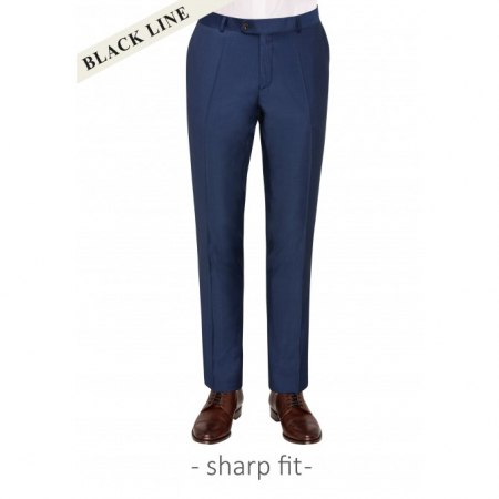 Pantaloni mix&match CARL GROSS BLACK LINE Flann pentru costum Sharp Fit albastru [0]