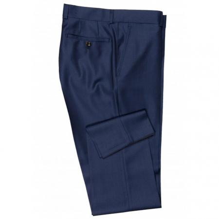 Pantaloni mix&match CARL GROSS BLACK LINE Flann pentru costum Sharp Fit albastru [3]