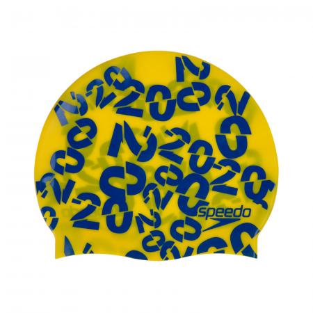 Casca inot copii SPEEDO Slogan galben/albastru [1]